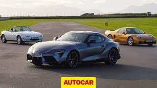 Download Toyota Supra meets Mazda MX-5, Honda NSX | Japanese sports car special | Autocar Heroes Video