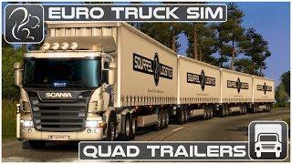 Download QUAD Trailers - My CRAZIEST Haul Yet! (Euro Truck Simulator 2) Video