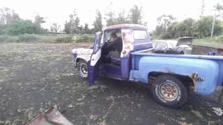 Download driving the rusty $200 abondoned 56 chevy cheap truck stepside junkyard rescue barn find Video