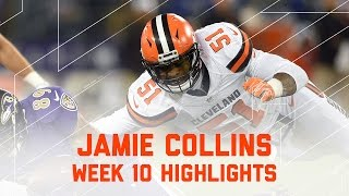 Download Jamie Collins Racks Up 9 Tackles & 1 Sack | Browns vs. Ravens | NFL Week 10 Player Highlights Video