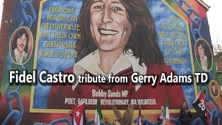 Download Fidel Castro tribute from Gerry Adams TD Video