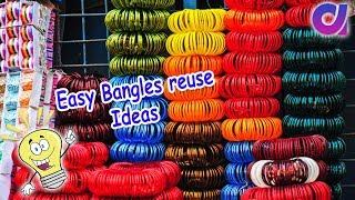 how to turn old waste bangles into beautiful bangle brace ! broken