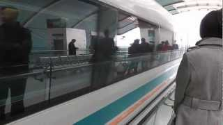 Download Awesome Maglev Train - Shanghai Pudong Airport - Longyang Road Station, China Video