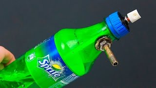 Download An unusual idea with a bottle and a can of spray paint Video