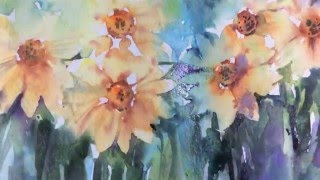 Download Loose Wet into Wet Watercolours with Andrew Geeson 'Daffodil's' Video