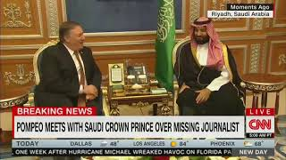 Download CNN anchor notes bizarre optics of Pompeo/MBS meeting in Riyadh Video