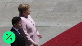 Download Angela Merkel OK After Visibly Shaking Next to Ukrainian President Video