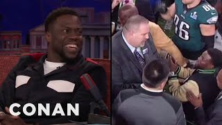 Download Kevin Hart's Drunken Mission To Hold The Super Bowl Trophy - CONAN on TBS Video