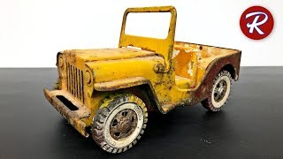 Download 1960s Tonka Jeep Restoration - Military Jeep GR2-2431 Video