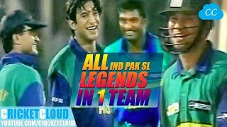 Download India PAK SL Legends in One Team   Asia vs Rest of World   Extraordinary Thriller Match !! Video