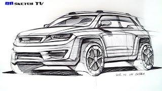 Download 온스케치 TV Sketch - ″ SUV Concept design ballpen sketch ″ Video