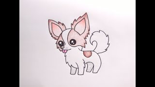Download วาดรูปสุนัข ชิวาว่า How To Draw Cute Chihuahua Dog Cartoon Easy for Kids Coloring Pages Video