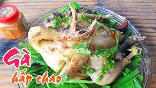 Download GÀ HẤP CHAO với CẢI BẸ XANH   Món ngon Mẹ nấu Video
