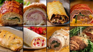 Download 9 Mind-Blowing Party Food Rolls Video
