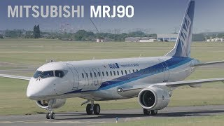 Download Mitsubishi's MRJ90 Airliner Makes Public Debut with ANA Livery at Paris Air Show 2017 - AINtv Video