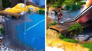 Download AN ARTIST CREATES EYE-CATCHING AND DETAILED DIORAMAS THAT WILL IMPRESS YOU Video