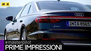 Download Nuova Audi A8 2018, anche a passo lungo e con tecnologia AI piloted driving level 3 [ENGLISH SUB] Video