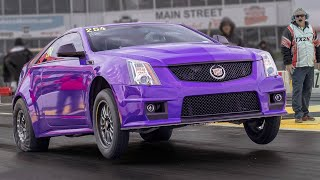 Download Purple CTS-V Goes Wheels UP! @ TX2K19 Video