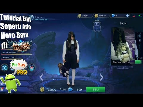 Tutorial Edit Foto Mobile Legend Pesulap The Sacred Riana Antoinette di Hp Android