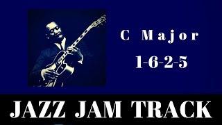 Download C Major Jazz Backing Track | Easy 1-6-2-5 Jam Video