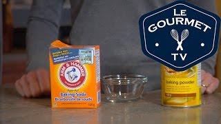 Download Baking Soda Vs. Baking Powder - LeGourmetTV Video
