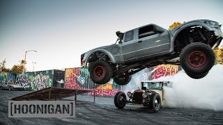 Download [HOONIGAN] DT 134: Prerunner Jumping over Hand-Controlled Hot Rod Video