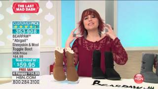 Download BEARPAW ″Abigail″ Sheepskin and Wool Toggle Boot Video