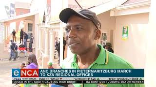 Download Moses Mabhida Regional branches of the ANC march in protest Video