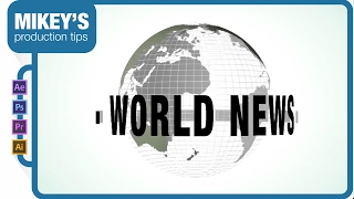 Download Motion Graphics Newscast Globe: After Effects Tutorial Video