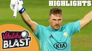 Download Finch & Roy Share Record Stand | Surrey v Middlesex | Vitality Blast 2018 - Highlights Video