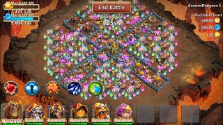 Download New Insane Dungeon 5-10 Castle Clash 3 Flamed FINAL Dungeon Video