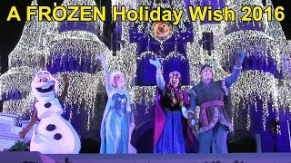 Download A Frozen Holiday Wish at Magic Kingdom FRONT ROW - First Lighting of Cinderella Castle 2016 w/Elsa, Video