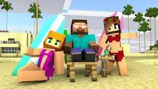 Download Monster School : Herobrine on Vacation NOOB vs. PRO - Minecraft Animation Video