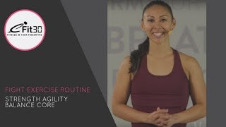 Download Fight Exercise Routine, Cardio, Core and Stability Fit Move123 Video