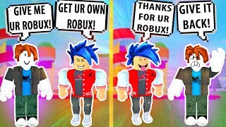 Download I PRETENDED to take his ROBUX! Roblox Admin Commands | Roblox Funny Moments Video