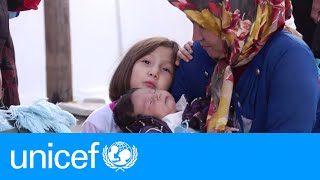 Download What happens at a transit camp for refugees in Europe?   UNICEF Video