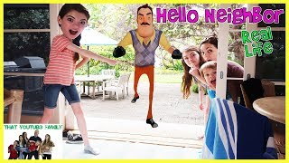 Download Hello Neighbor In Real Life At Beach House / That YouTub3 Family Video