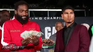 Download Adrien Broner flashes crazy money stack at Mikey Garcia Video