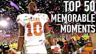 Download 50 Most Memorable Moments in College Football History Video