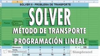 Download Simplexcel - Solver 3 - Metodo de transporte Video