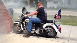 Download Yamaha V Star Burnout Video