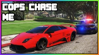 Download GTA 5 Roleplay - Cops Chase My Stolen Lamborghini   RedlineRP Video
