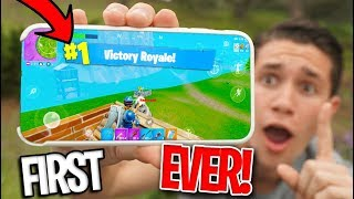 Download *MOBILE* Fortnite Battle Royale RELEASED! FIRST VICTORY ROYALE! Video
