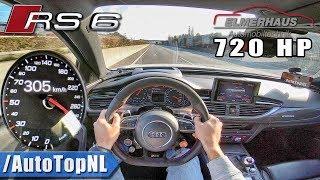 Download 720HP Audi RS6 Elmerhaus 305km/h AUTOBAHN POV by AutoTopNL Video