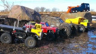 Download RC ADVENTURES - MUD BATH - 5 Trucks get Dirty Video