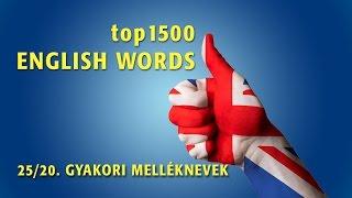 Download top1500 ANGOL SZÓ 25/20. GYAKORI MELLÉKNEVEK 1. Video