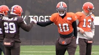 Download Robert Griffin III returns to practice for Cleveland Browns Video