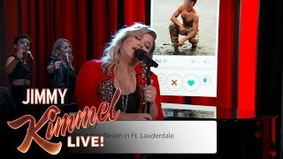 Download Kelly Clarkson Sings Tinder Profiles Video