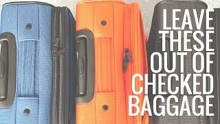 Download 5 Things NOT to Pack in Your Checked Baggage Video