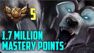 Download Bronze 5 Volibear 1,700,000 MASTERY POINTS- Spectate Highest Mastery Points on Volibear Video